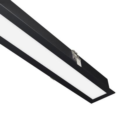 Downlight Led MOD, 24W, 120cm, negro, Blanco frío