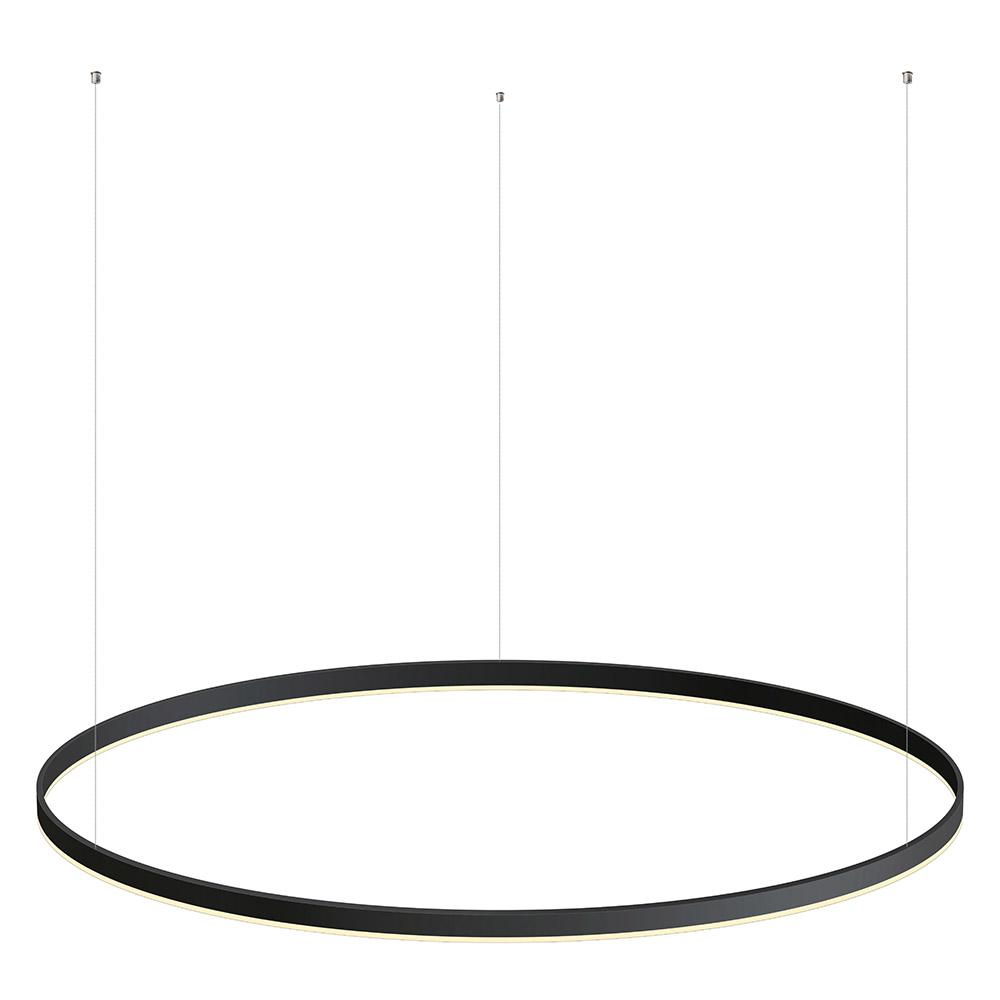 Luminaria colgante RING 75W, Ø1200mm, negro