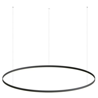Luminaria colgante RING 95W, Ø1500mm, negro, Blanco cálido