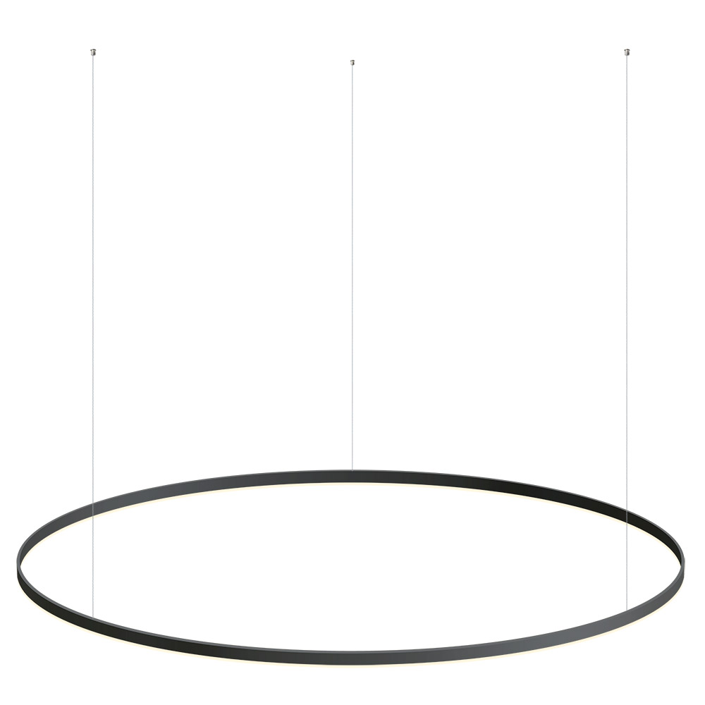 Luminaria colgante RING 95W, Ø1500mm, negro