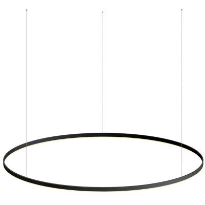 Luminaria colgante RING 115W, Ø1800mm, negro, Blanco frío
