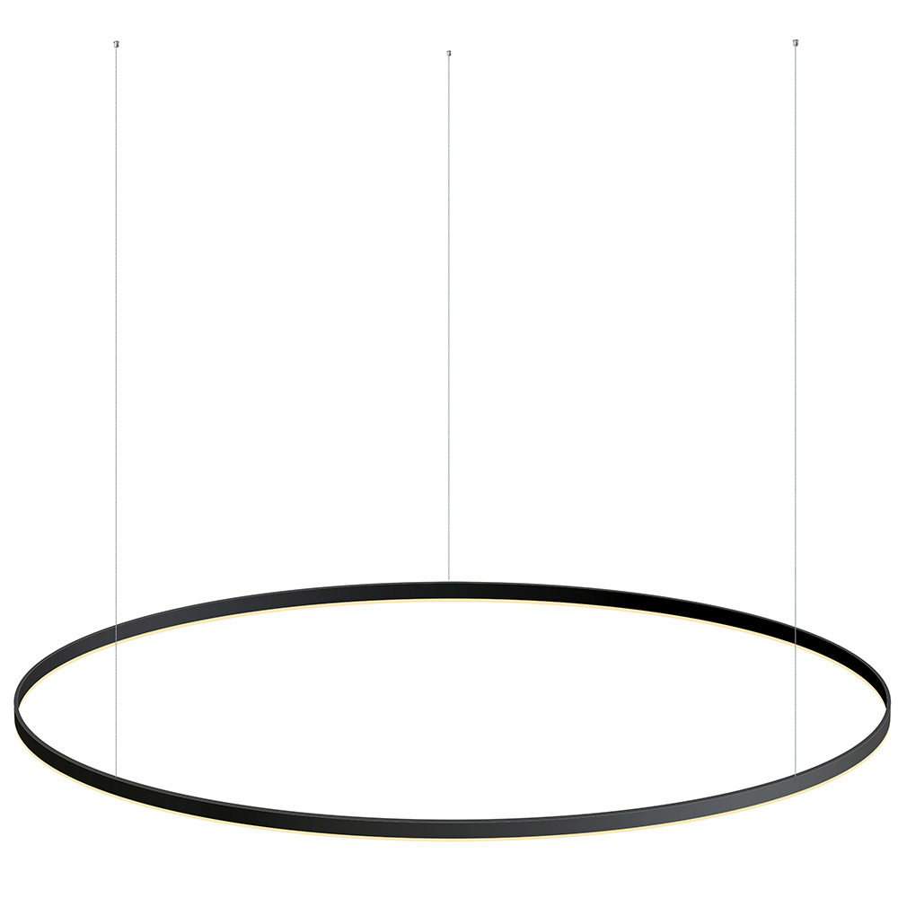 Luminaria colgante RING 115W, Ø1800mm, negro