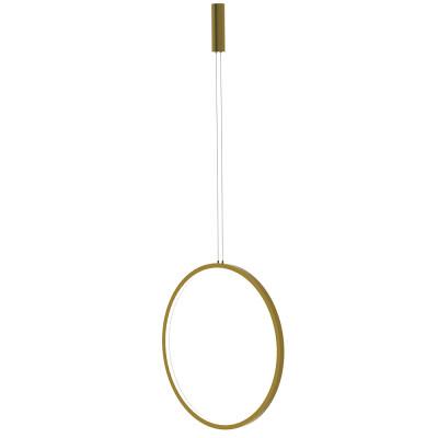 Luminaria colgante CYCLE PLUMB, 45W, gold, Ø80cm, TRIAC regulable, Blanco neutro, Regulable