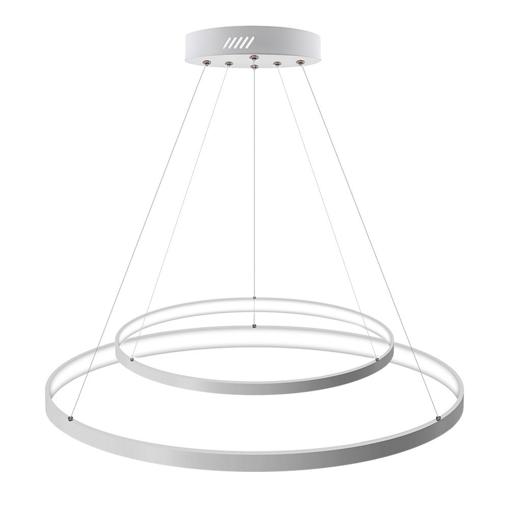 Luminaria colgante ELIX, 60W, blanco, Ø57+38cm