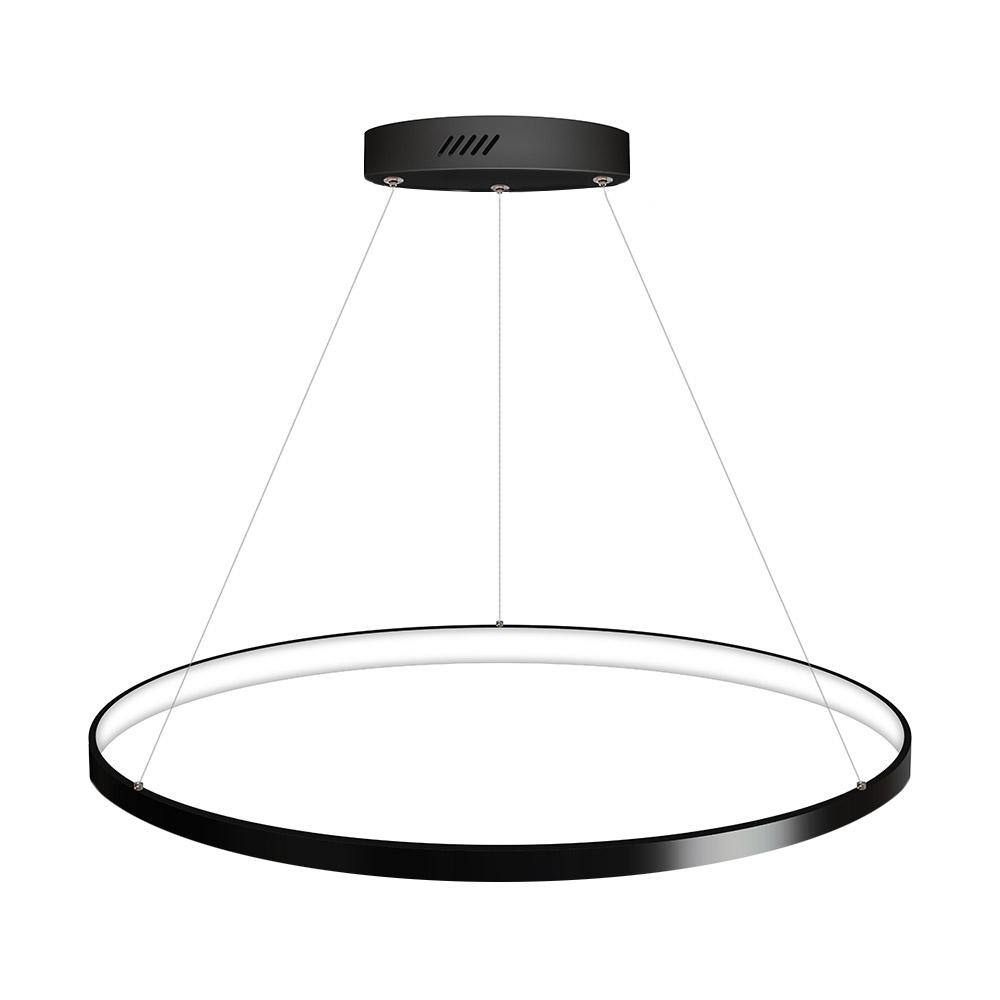 Luminaria colgante ELIX, 36W, negro, Ø57cm