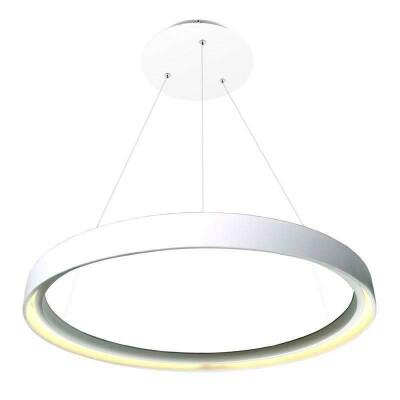 Luminaria colgante HOOP 108W, Ø80cm, Blanco frío