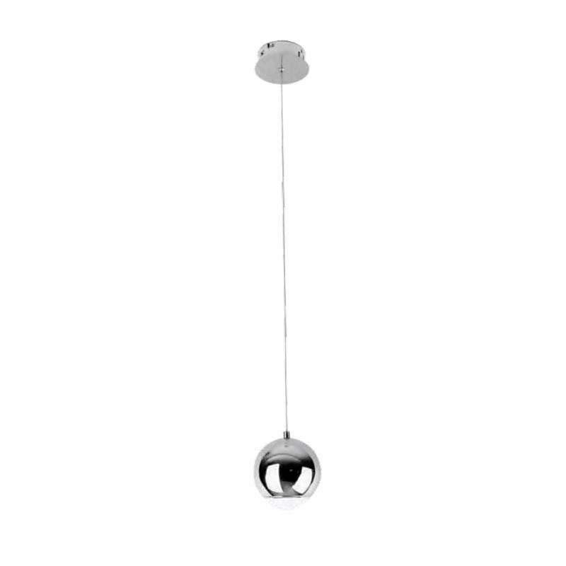 Luminaria colgante GLESNA cromo, 5W