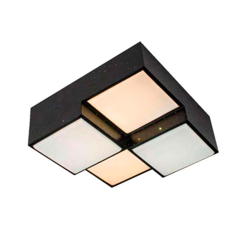 Luminaria KUBB negro, 48W
