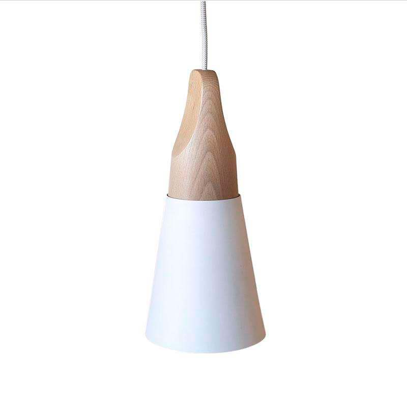 Lámpara colgante KONO Blanco, E27