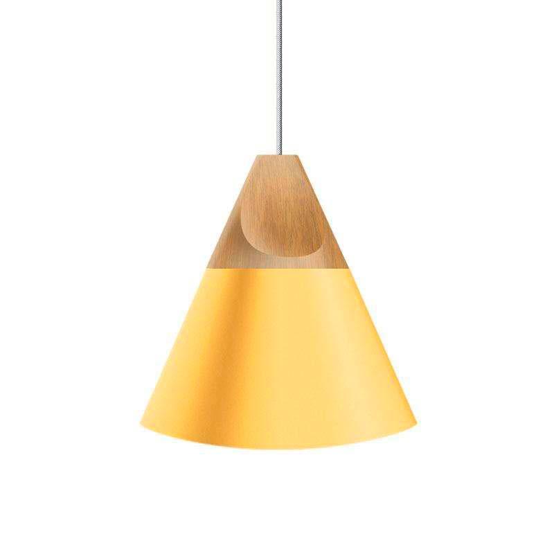 Lámpara colgante KONO Amarillo, E27