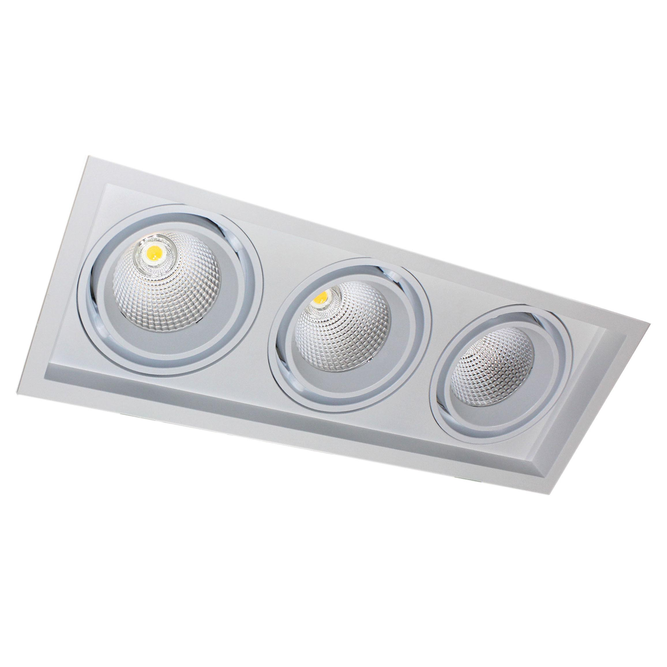 Downlight Led, KARDAN, 3 focos, 90W