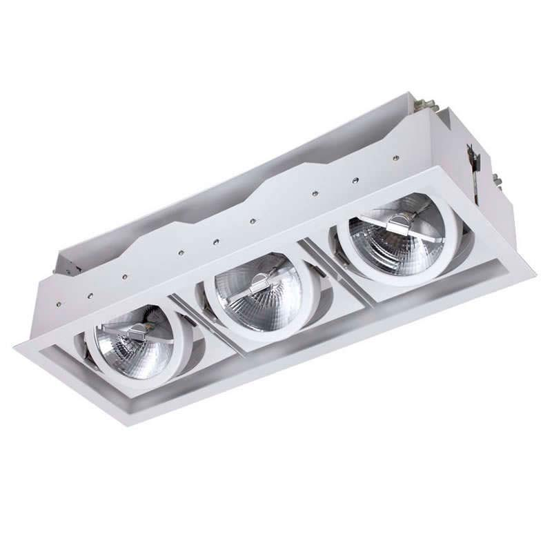 Housing para Downlight Led, KARDAN ELAFON, 3 focos -