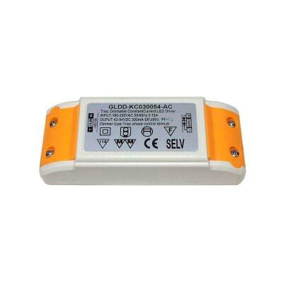 LED Driver DC42-54V/16W/300mA,TRIAC Regulable, , Regulable