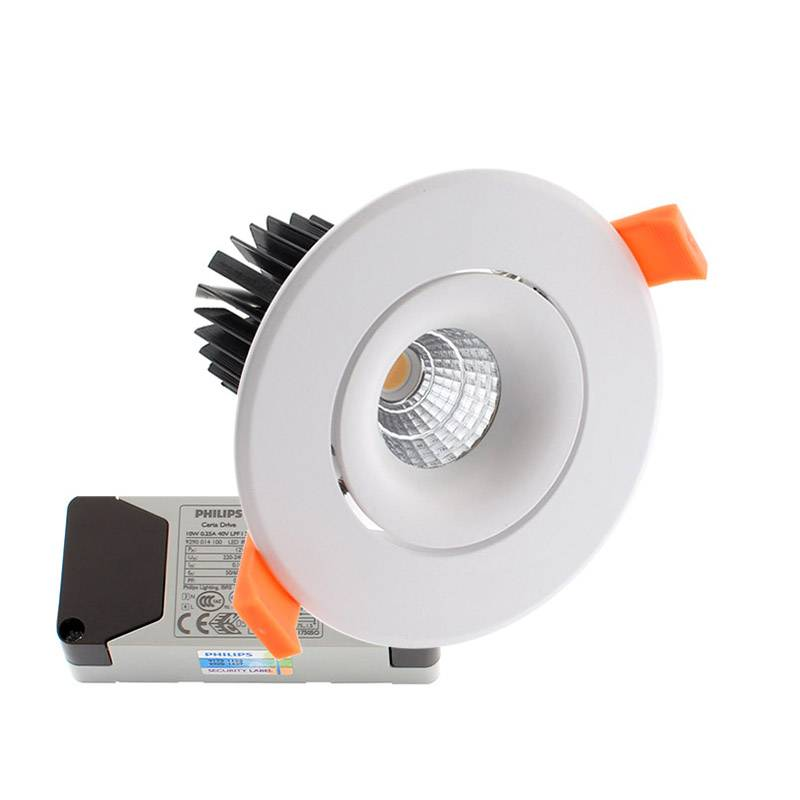 Downlight Led LUXON CREE 12W, Regulável driver PHILIPS