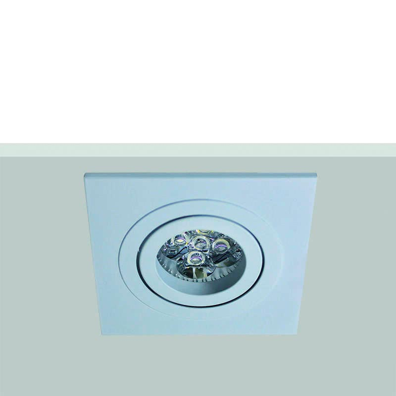 Housing for led downlight,  square (x 2 rings)