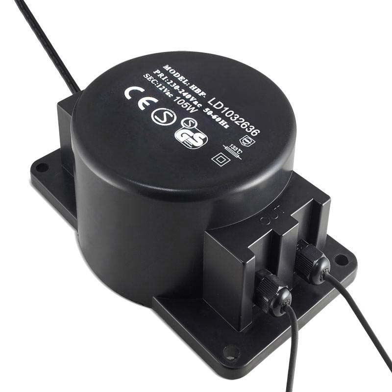 Adaptador de corriente de 220V AC a 12V AC, 105W, IP68