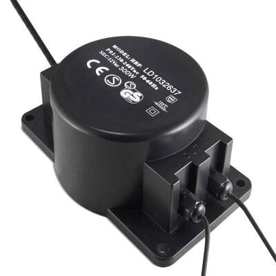 Adaptador de corriente de 220V AC a 12V AC, 300W, IP68