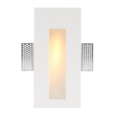 HUTT Baliza empotrada escayola, 110x245mm, 1W, Blanco cálido