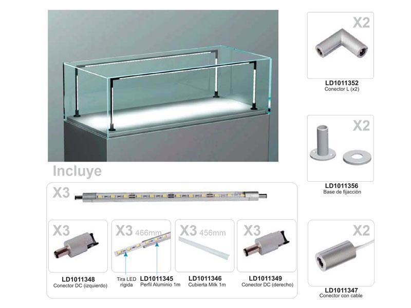 Iluminacion led para vitrinas vitra lux u de 50cm 27w for Piscina rigida rectangular
