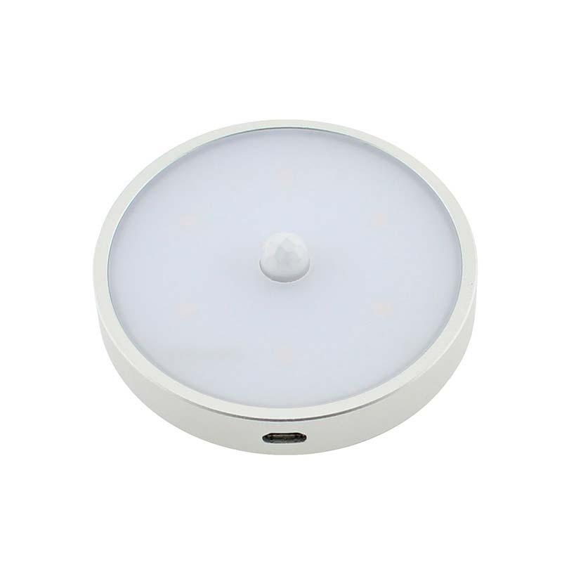 Spot Led ZOR ROUND com sensor PIR e bateria recarregável para armarios e gavetas