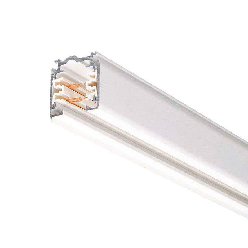 Carril trifásico con conector, 1 metro, blanco