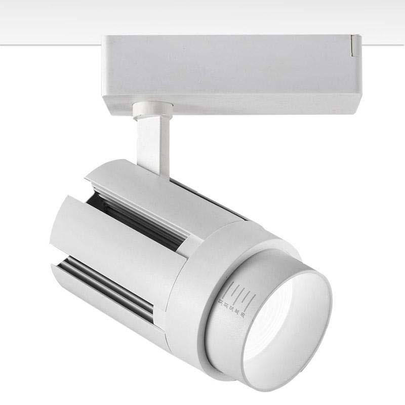 Foco carril ZOOM RAIL LED, 40W, 15º-60º, blanco