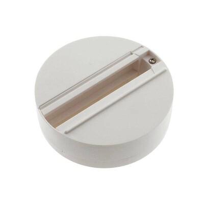 Base superfície carril trifásico, blanco