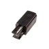 Conector carril trifásico a red Right, negro