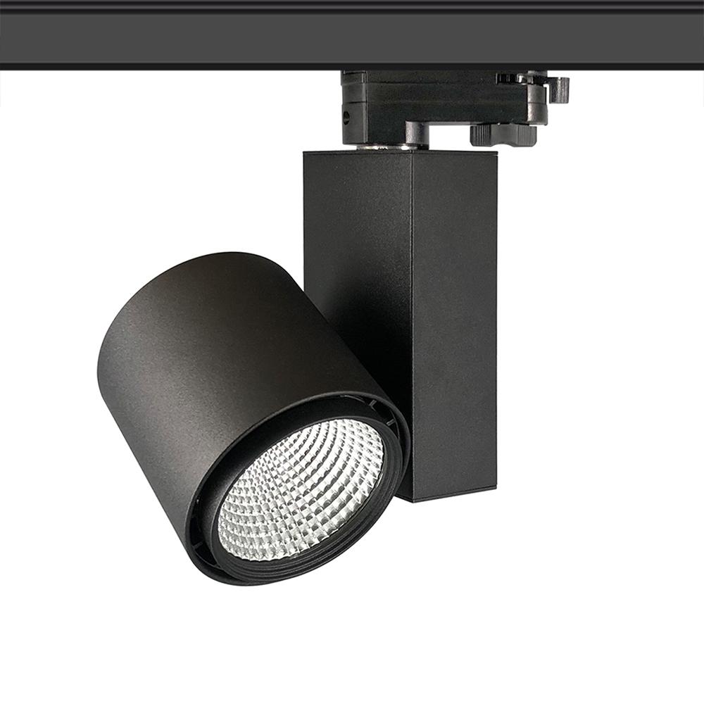 Foco carril DOMO OSRAM LED, 30W, negro, CRI >90