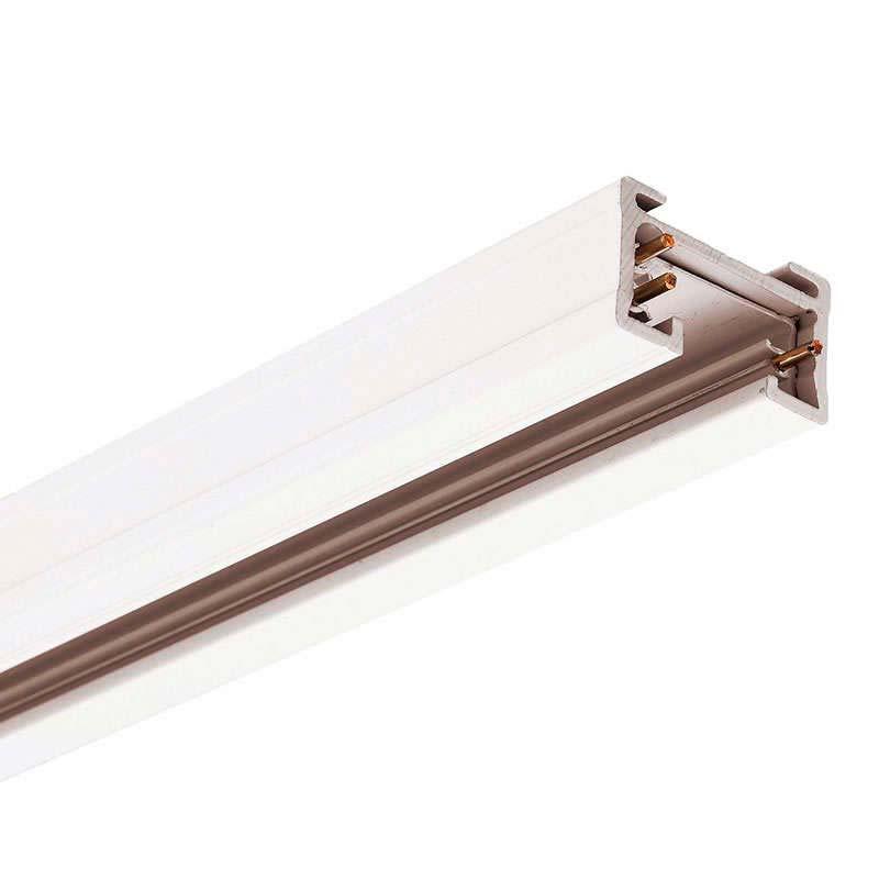 Carril bifásico con conector, 1 metro, blanco