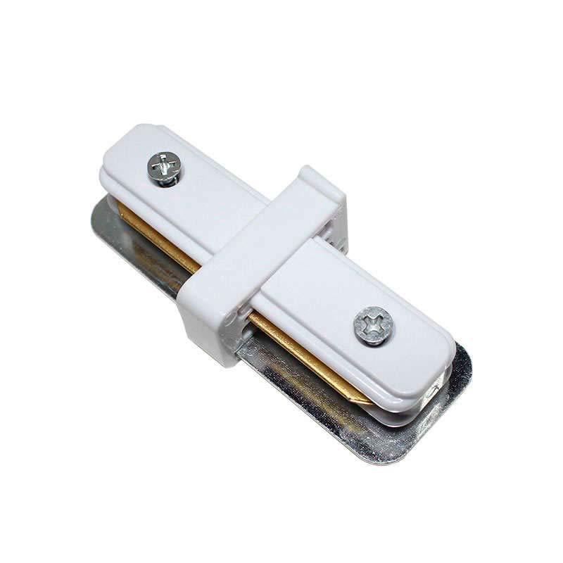 União I para carril monofásico, branco, quadrado