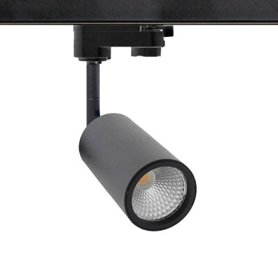 Foco carril Monofásico mini CRONOLUX RAIL LED negro 9W, Blanco frío