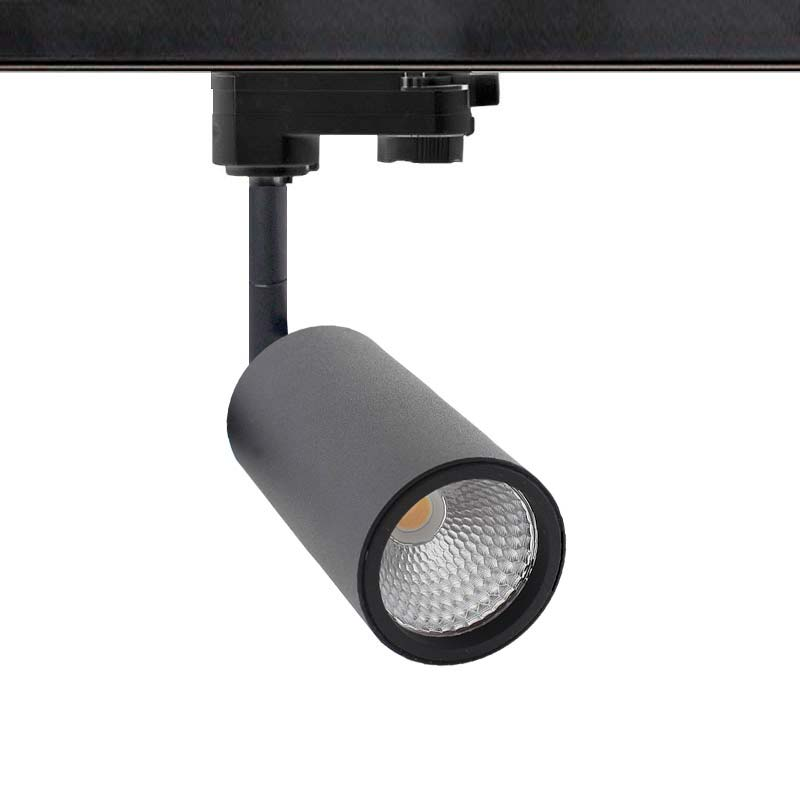 Foco carril mini CRONOLUX RAIL LED negro 9W
