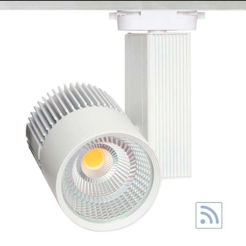 Foco carril Monofásico CRONOLUX CREE led + TUV driver, blanco 30W, RF, Regulable