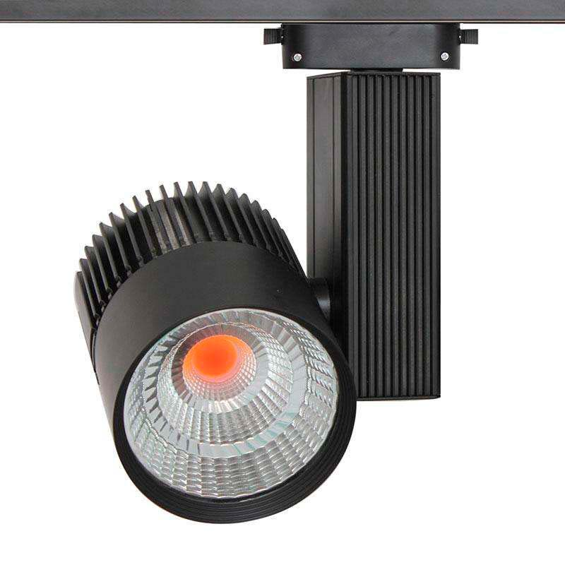 Foco carril CRONOLUX CREE led, negro 35W, PINK Carnes/Frutas