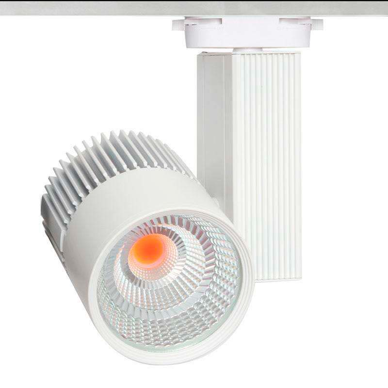 Foco carril CRONOLUX CREE led, branco 35W, PINK Carnes/Frutas