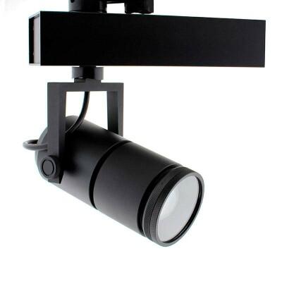 Foco carril TELESCOPIC CITIZEN LED, 28W, 10º-70º, negro, Regulable, Blanco cálido, Regulable