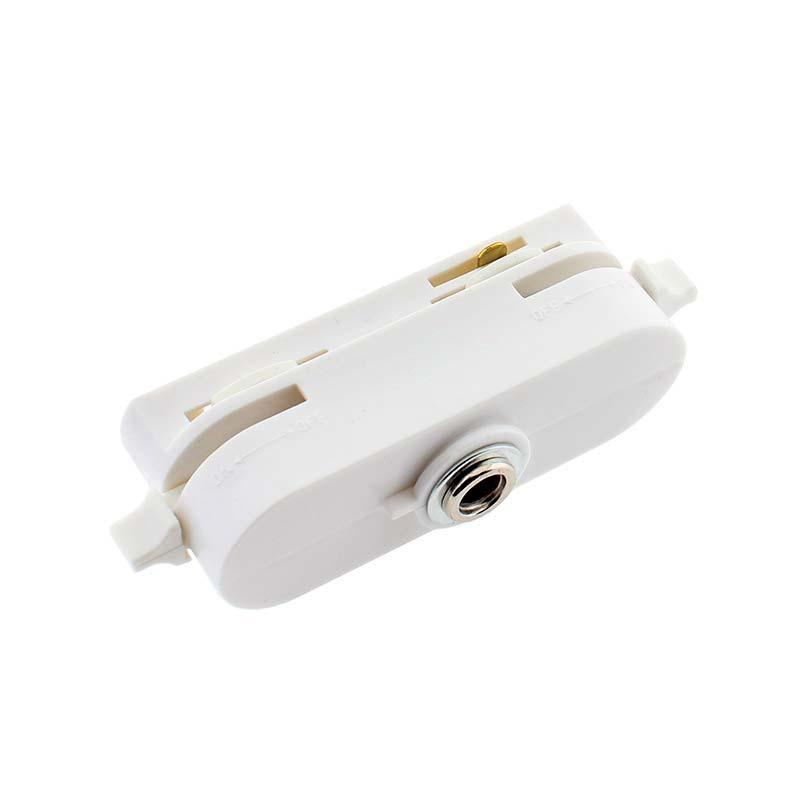 Conector foco a carril monofásico, blanco CT