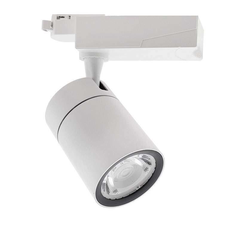 Foco de carril LED ZOLTAR, 40W, blanco, Blanco cálido