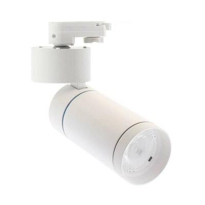 Foco LED DOMO para carril Monofásico, 30W, blanco, Blanco frío