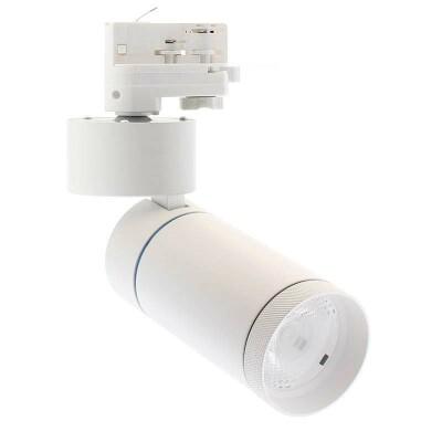Foco LED DOMO, 30W, blanco, carril Trifásico, Blanco cálido