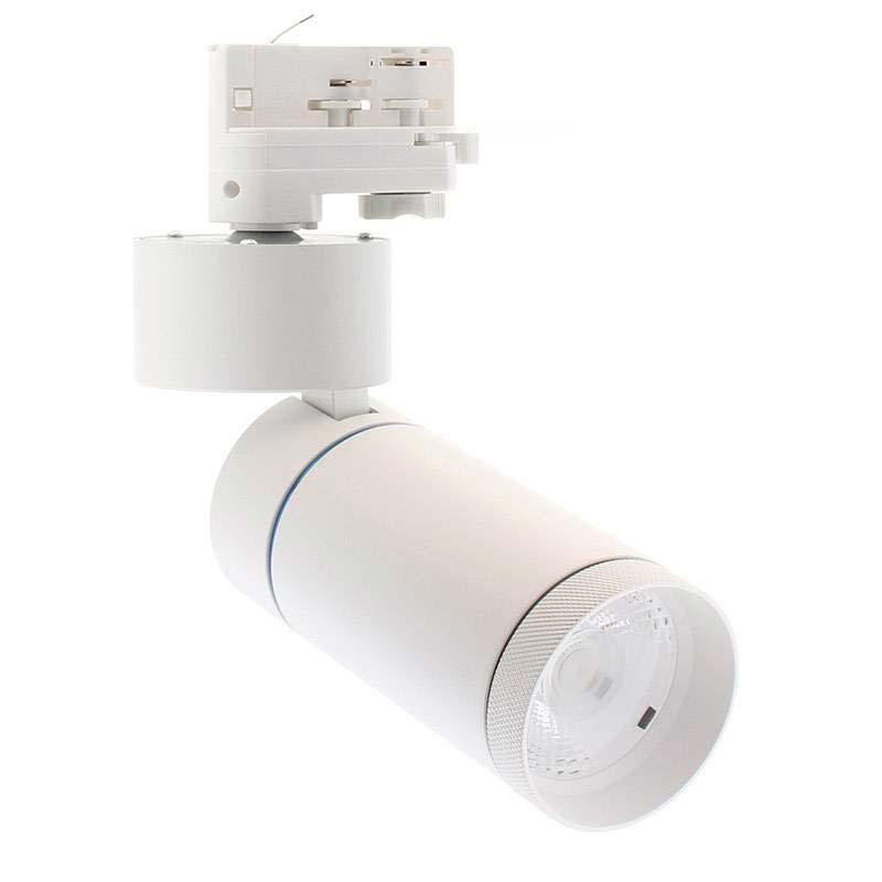 Foco LED DOMO, 30W, blanco, carril Trifásico