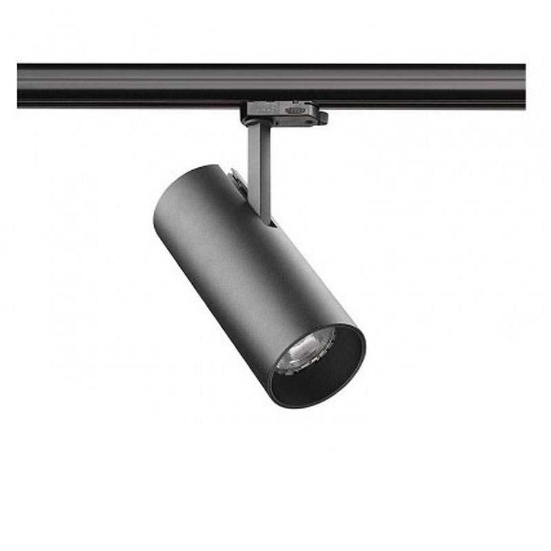 Foco LED Carril Monofásico ZOLTAR, 30W, negro, regulable