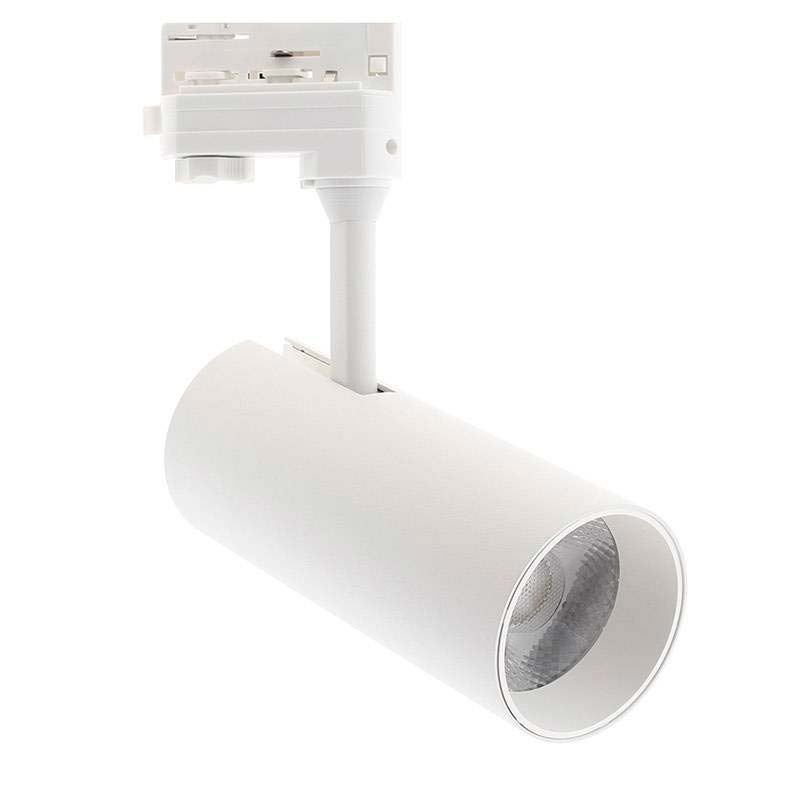 Foco LED Carril Trifásico ZOLTAR, 30W, blanco, regulable