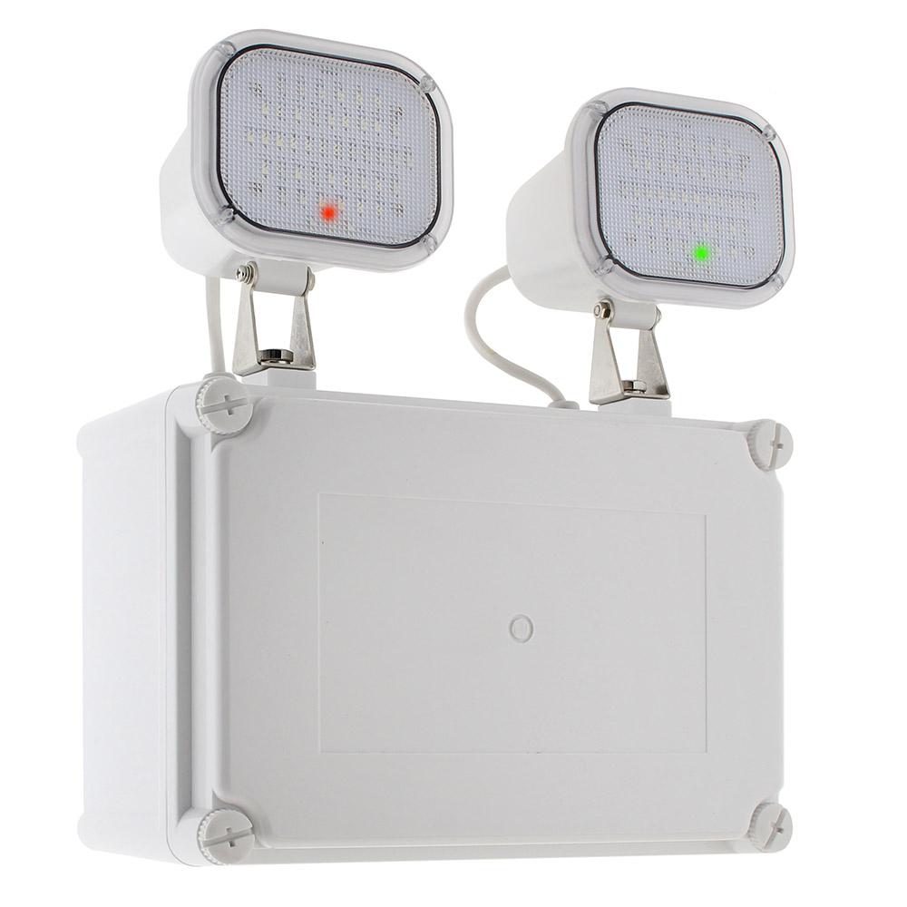 Luz de emergencia LED KROLUX AUTO-TEST, Estanca IP65, Industrial
