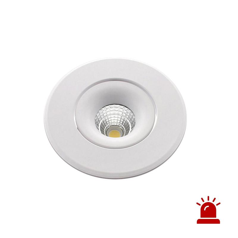 Luz de emergência LED LUXON, 12W, Permanente / Não permanente