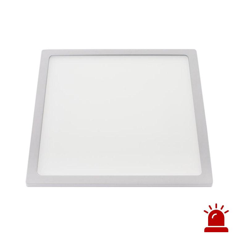 Luz de emergência LED KVADRATA, 22W, Permanente / Não permanente