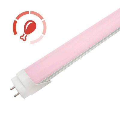 Tubo LED T8 especial Carnicerias, 9W, 60cm, Rosa/Magenta