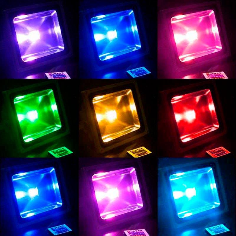 Led outdoor flood light MICROLED, 30W, RGB