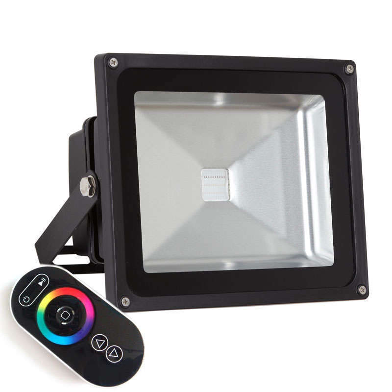 Proyector Led de exterior MICROLED, 30W, RGB-RF